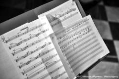 Focus di un gruppo di parti relative ai brani del concerto.