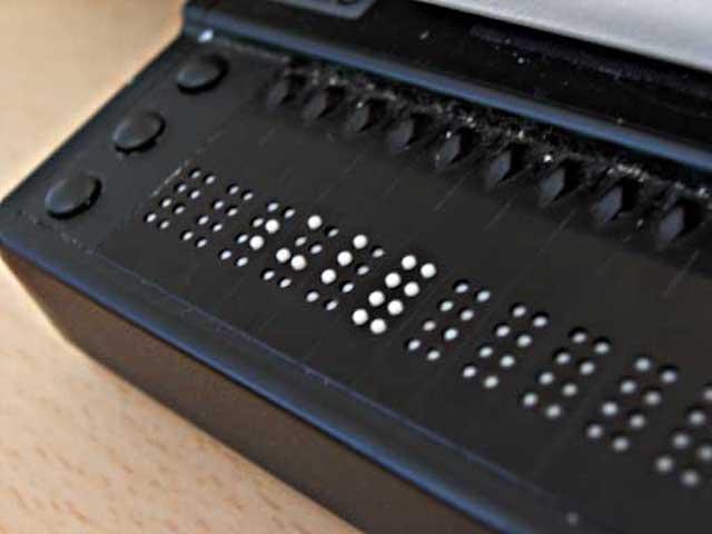 Immagine di un terminale Braille
