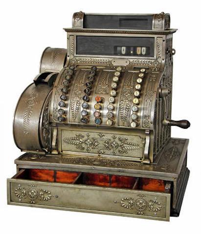 Immagine di un vecchio modello di registratore di cassa