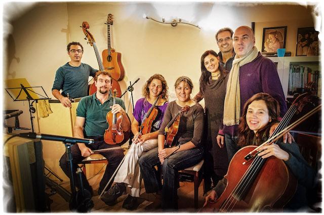 Ripresa dei musicisti realizzata nello studio di Giuliano